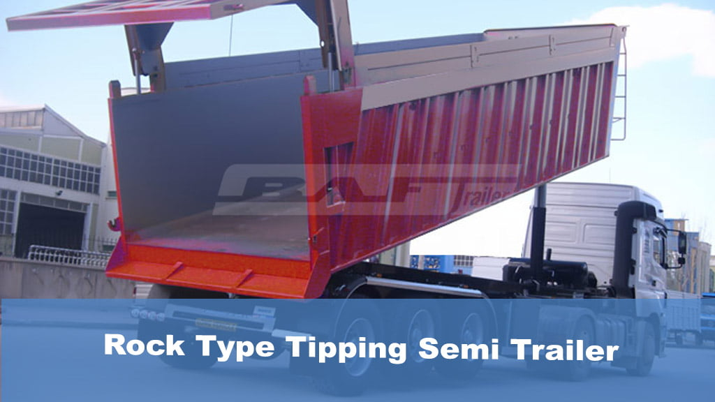 Rock Type Tipping Semi Trailer