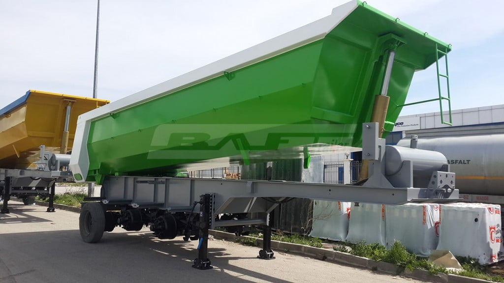 U Type - Half Pipe Tipping Semi Trailer