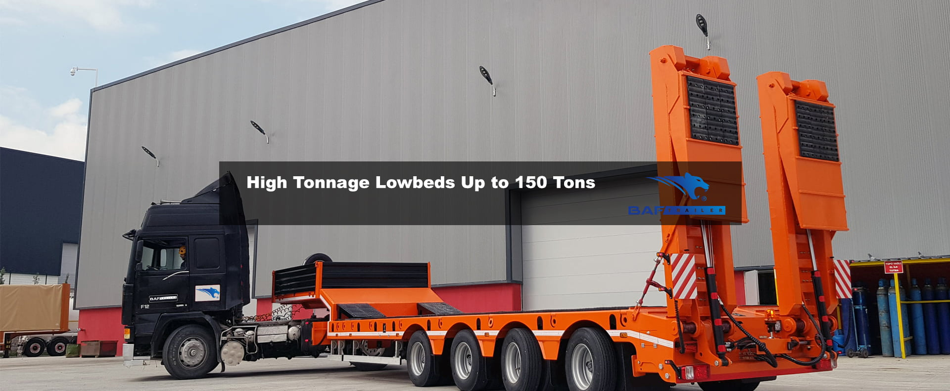 High Tonnage Lowbeds Up to 150 Tons
